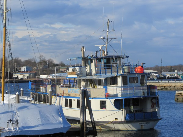 The Monhegan is docked Tuesday, April 10, 2012 in Lermond's Cove in Rockland.