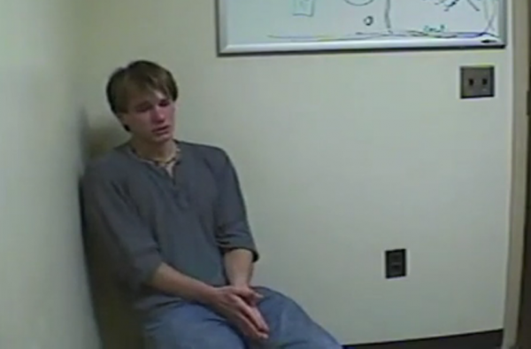 Thayne Ormsby during an interrogation by Maine State Police.