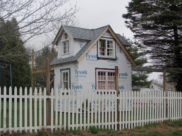 This playhouse at Booker Street in Thomaston is the center of a dispute between the property owners and town over taxes and the building permit.