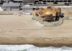 Work was completed last year on parts of a multimillion dollar project at Hampton Beach, including a new Seashell Complex and one of two new pavilions.