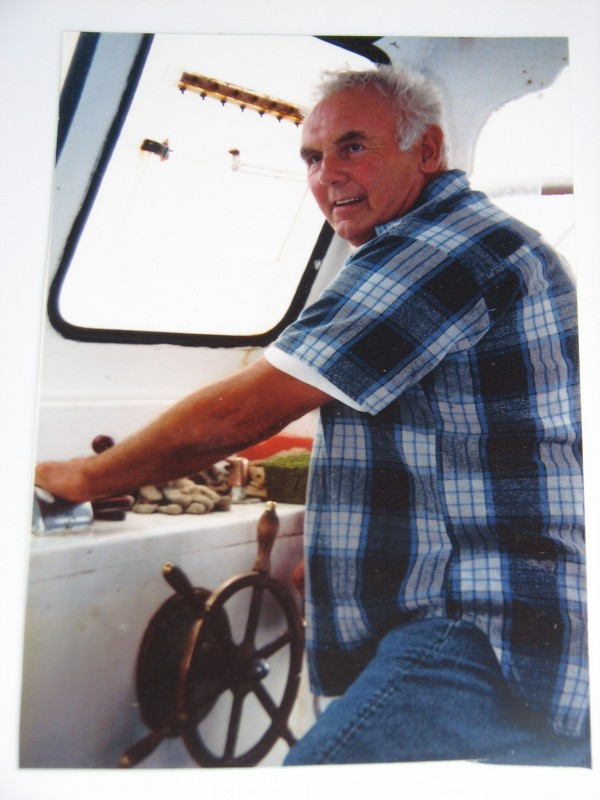Frank &quotFrankie&quot Jordan of Winter Harbor at the helm of his lobster boat Linda Diane in an undated photo. Jordan died June 30, 2010, when his boat collided with another lobster boat off Pond Island in Frenchman Bay.