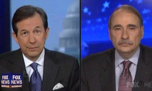 Chris Wallace, left, and David Axelrod