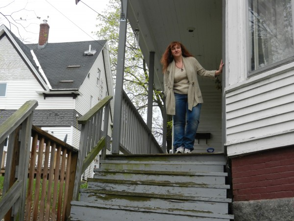 Bangor resident Lisa Prescott keeps an eye out for her neighbors on Second Street, which has had its share of crime-related problems over the last eight months.