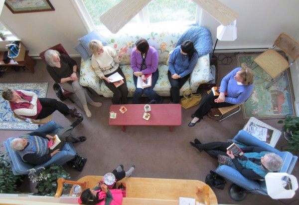 At a recent meeting of the Persian Pickles book discussion group, the group discusses &quotSix Suspects&quot by Vikas Swarup.
