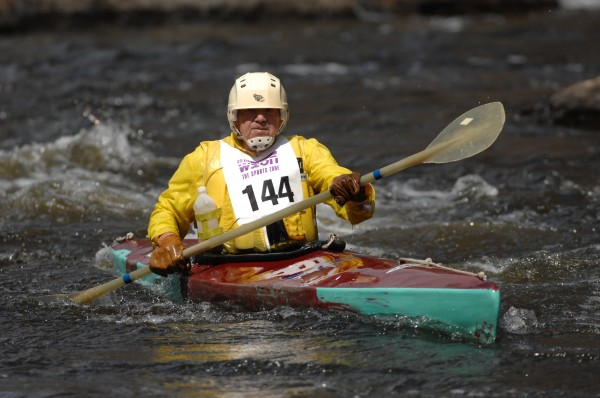 &quotAnd on a sadder note, Earl Baldwin was a paddling legend in Maine — he also built Baldwin racing kayaks in his shop in Orrington.  He passed away earlier this winter. I met him a few times over the years and I always marveled at how Earl, an octogenarian, would cruise right by people less than a quarter his age. He will be missed.&quot