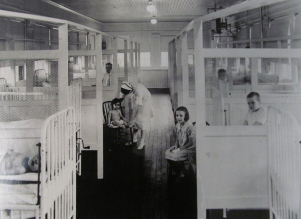 This historical photo stored at the Barron Center and taken at Portland's city hospital, the predecessor to the center, offers a glimpse of public health care in the city decades ago.