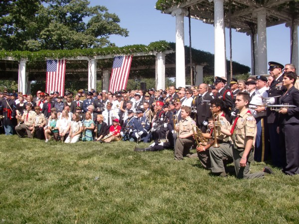 Ron Clark of Belfast was one of 183 participants in the Bugles Across America event in Arlington National Cemetery on Saturday, May 19, 2012.