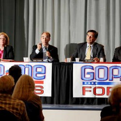 Republican candidates tout records, set sights on DC in Chamber forum