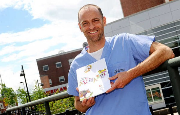 Kevin Strong, a Camden resident and pediatric hospitalist at Central Maine Medical Center in Lewiston, has created Dunk the Junk, a nonprofit organization and hip hop-filled, graffiti-covered campaign to encourage kids to drop soda and junk food in favor of fruits, vegetables and other healthy fare.