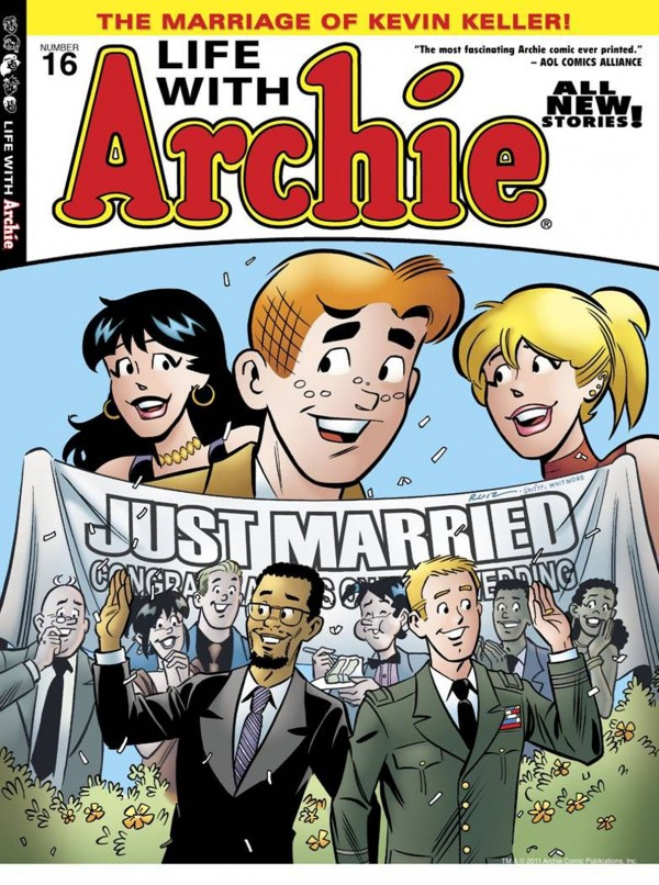 "Led by Jon Goldwater, co-chief executive of Archie Comics, the comic book series In 2010 introduced Kevin Keller, Riverdale's first openly gay character. Archie Comics' ""Marriage of Kevin Keller!"" issue sold out this year."