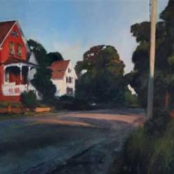 Julyan Davis, Church Street, Stonington, oil on canvas