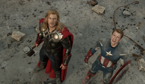 Chris Hemsworth stars as Thor and Chris Evans as Captain America in &quotThe Avengers.&quot