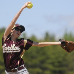 Staples leads Caribou softball team to second upset, berth in final