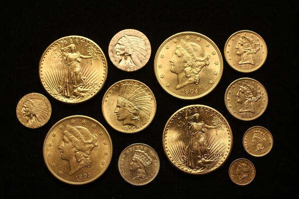 A sampling from the group of 41 coin lots to be sold at Thomaston Place Auction Galleries on June 10, 2012