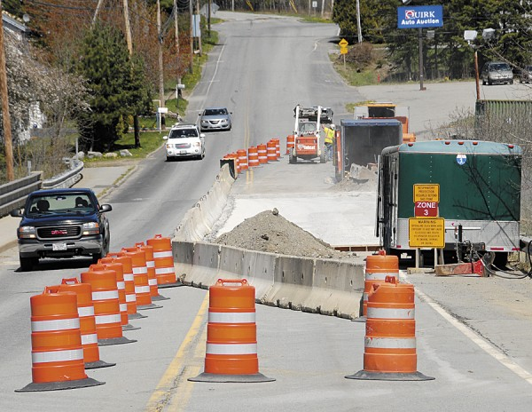 A Maine Department of Transportation crew is installing a concrete wearing surface and replacing expansion joints on the Bullseye Bridge in Bangor. The project should wrap up in late June.