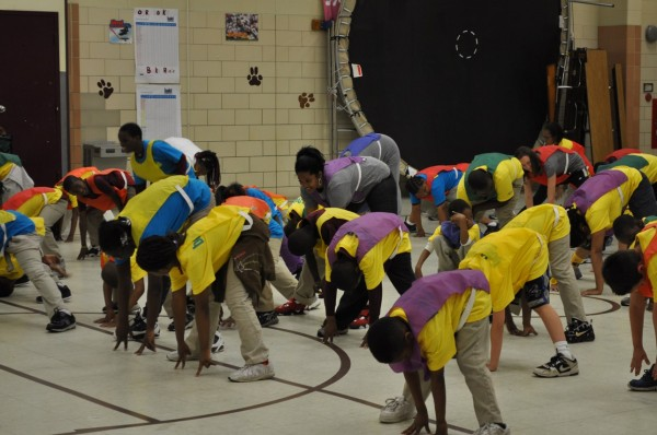 Students at Orr Elementary in Washington take part in the Build Our Kids' Success program.