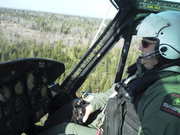 The Maine Forest Service had four forest rangers and a helicopter/ranger pilot at the scene of the search for Dean Levasseur.