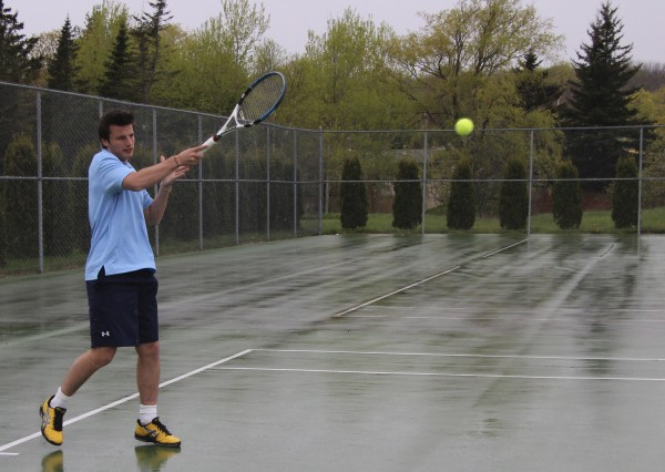 Oceanside High School's Jordan Doutreluigne, an exchange student from Mouscron, Belgium, could be one of the more mysterious entries in Maine's high school tennis singles tournament that begins Saturday with regional qualifying rounds.