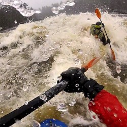 Early Kenduskeag rapids provide a thrill