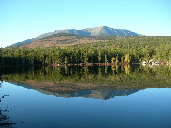 Mount Katahdin as seen from from Caverly Pond.