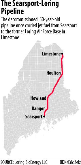 Rights To Former Searsport To Limestone Jet Fuel Pipeline Go On