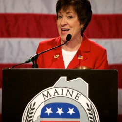 Sen. Susan Collins speaks at the Maine GOP Convention in Augusta Saturday afternoon, May 5, 2012.