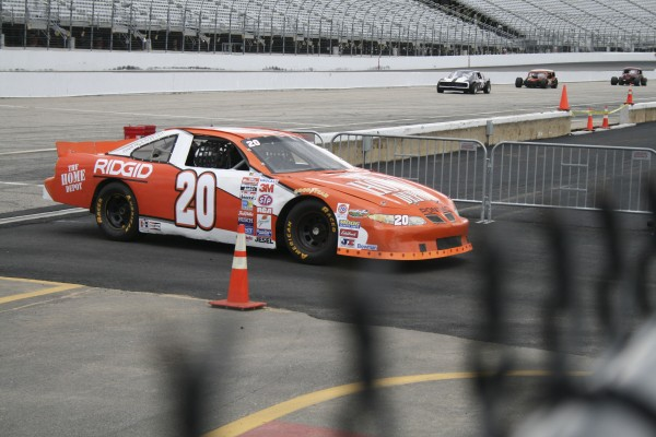 Newburgh's Greg Veinote owns the No. 20 Home Depot Joe Gibbs Racing car driven by Tony Stewart from 2000-2002. Veinote is making it available to youngsters and adults with disabilities or illness.