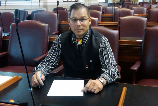 David Slagger sits at his desk at the State House in Augusta in December 2011.