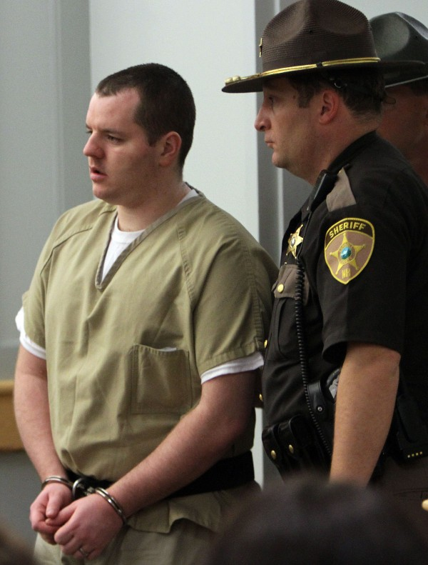Anthony Papile arrives for a plea hearing in Carroll County Superior court on Thursday, May 24, 2012 in Ossipee, N.H. Papile pleaded guilty to second-degree murder in the disappearance and death of 20-year-old Krista Dittmeyer of Portland.