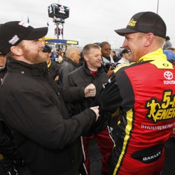 Johnson edges Bowyer by a whisker to win Talladega
