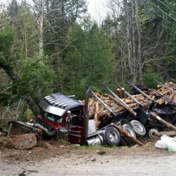 Pittsfield man dies in crash of log truck