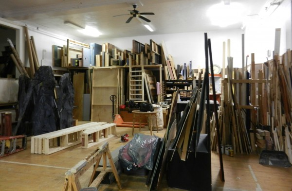 The Penobscot Theatre Company's storage space in a house on Somerset Street in Bangor is used to assemble staging and props. It must be vacated so John Bapst can renovate the space for foreign exchange student housing.