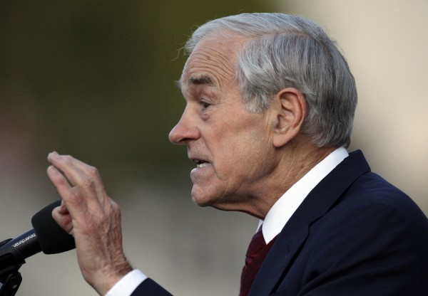 In this April 5, 2012, file photo, Republican presidential candidate Rep. Ron Paul, R-Texas speaks at the University of California at Berkeley, Calif.