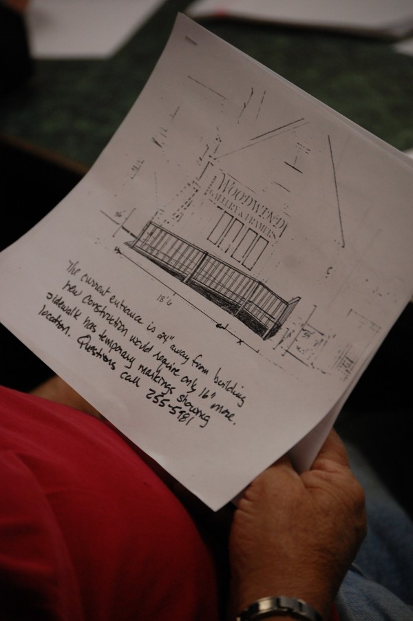 It's back to the drafting table for this plan to build a handicapped accessible ramp in front of Woodland Gallery and Framers on Main Street in Machias. The Board of Selectmen agreed Wednesday, May 9, 2012, to hire an engineering firm to explore other designs.
