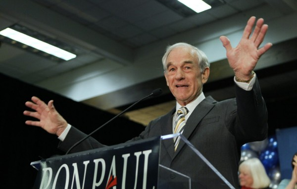 Republican presidential candidate Rep. Ron Paul, R-Texas, speaks to his supporters following his loss in February in the Maine caucus to Mitt Romney, in Portland, Maine. But Paul, clearly, isn't finished yet.