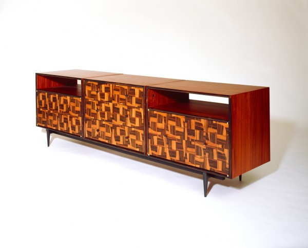 &quotTartan Console&quot by Brian Reid of Rockland is on display through June 30 at the Society of Arts & Crafts gallery at 175 Newbury St. in Boston in an exhibition for the society's three 2012 Artist Award winners.