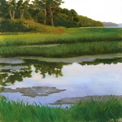 James Mullen, Summer Marsh, oil on plexiglass