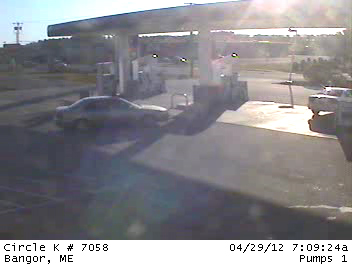 "The Hancock County Sheriff's Office and the Bangor Police Department released four surveillance camera photos taken Sunday morning at a Bangor convenience store that show a young man in a hooded shirt as well as this one of a vehicle. Police in Hancock County are asking for the public's help identifying a young man considered a ""person of interest"" in a string of motor vehicle burglaries in Dedham over the weekend."
