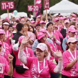 Relatives honor family members who've had breast cancer at Bangor race