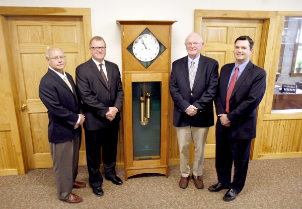 Pictured (L to R): Doug Nelson, President, Acadia Insurance; Tim Varney, President and CEO, Varney Agency; Bill Varney, Chairman of the Board, Varney Agency; and Jonathan Becker, Vice President and Branch Manager, Acadia Insurance.