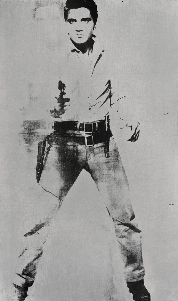 "&quot""Double Elvis&quot by Andy Warhol sold for $37 million at Sotheby's."
