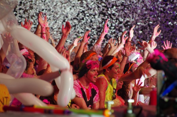 Students packed the Field House on last week for Dayglow, a electronic music show that bills itself as the world's largest paint party