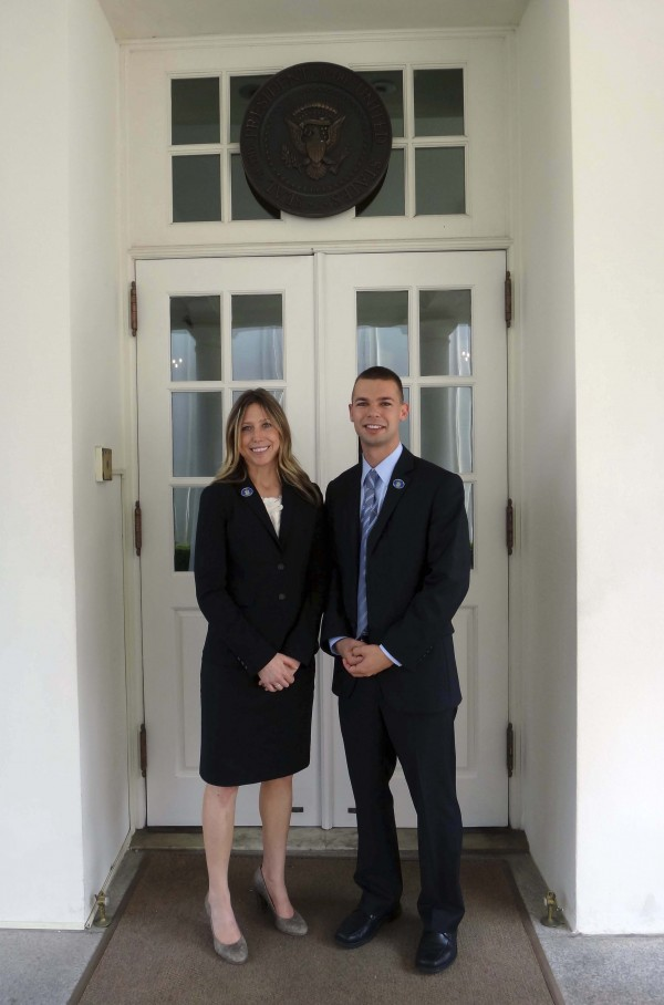 Rep. Alex Cornell du Houx, D-Brunwick, and Rep. Erin Herbig, D-Belfast, in Washington, D.C. on June 17, 2011, to attend a private reception with President Barack Obama and to meet with members of the Obama administration at the White House.
