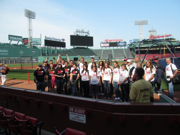 A group of Maine high school students were given VIP treatment Tuesday, May 29, 2012, at Fenway Park in Boston. The students are part of a Volunteers of America-run program called Action Teams.