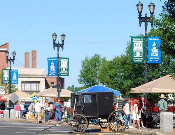 This familiar scene from a previous Community Market featuring local vendors in downtown Market Square in Houlton is set to be replicated every Saturday this summer beginning May 26, 2012.