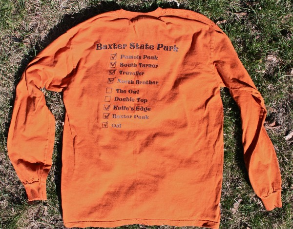 Bruce and Kerry Jordan of Veazie ordered custom long-sleeve T-shirts for their group of family and friends that camp and hike at Baxter State Park each year. The camping tradition began in 1998, and the group has grown from four to about 25 people.