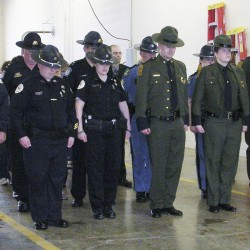 Aroostook police officers remember fallen colleagues