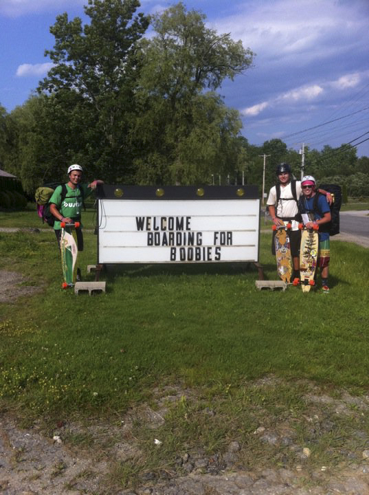 Jacob Weese, Ethan Johnson, and Connor Reeves of Skowhegan will embark on June 26 on their second annual Boarding for Boobies fundraiser to benefit the Susan G. Komen For the Cure Foundation. The trio will ride their longboards from Old Orchard Beach to New York City.
