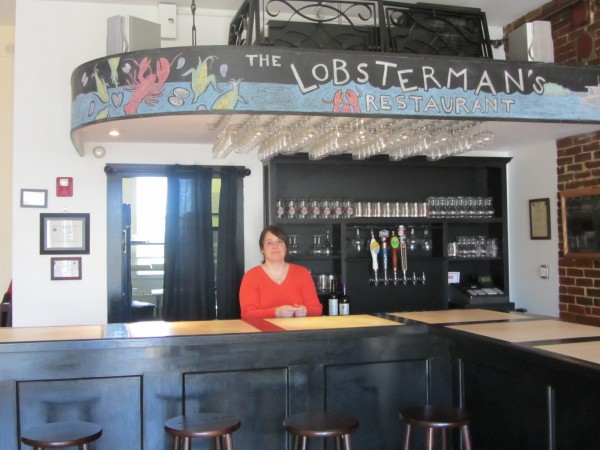 Christy Adams stands behind the counter at the Lobsterman's Restaurant on Main Street in Rockland recently.