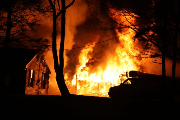 A fire destroyed a barn and damaged a home early Thursday morning in Owls Head.